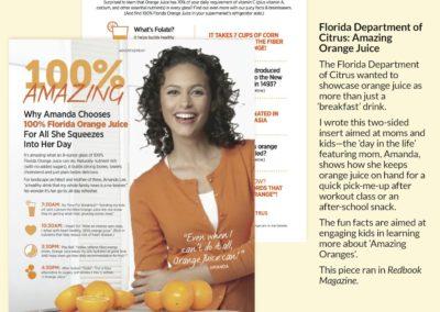 Florida Department of Citrus: Amazing Orange Juice