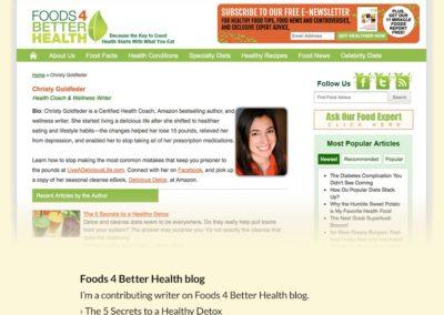 Foods 4 Better Health Blog
