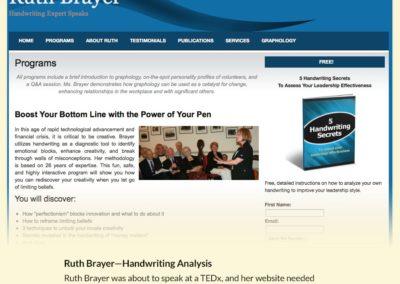 Ruth Brayer Handwriting Expert